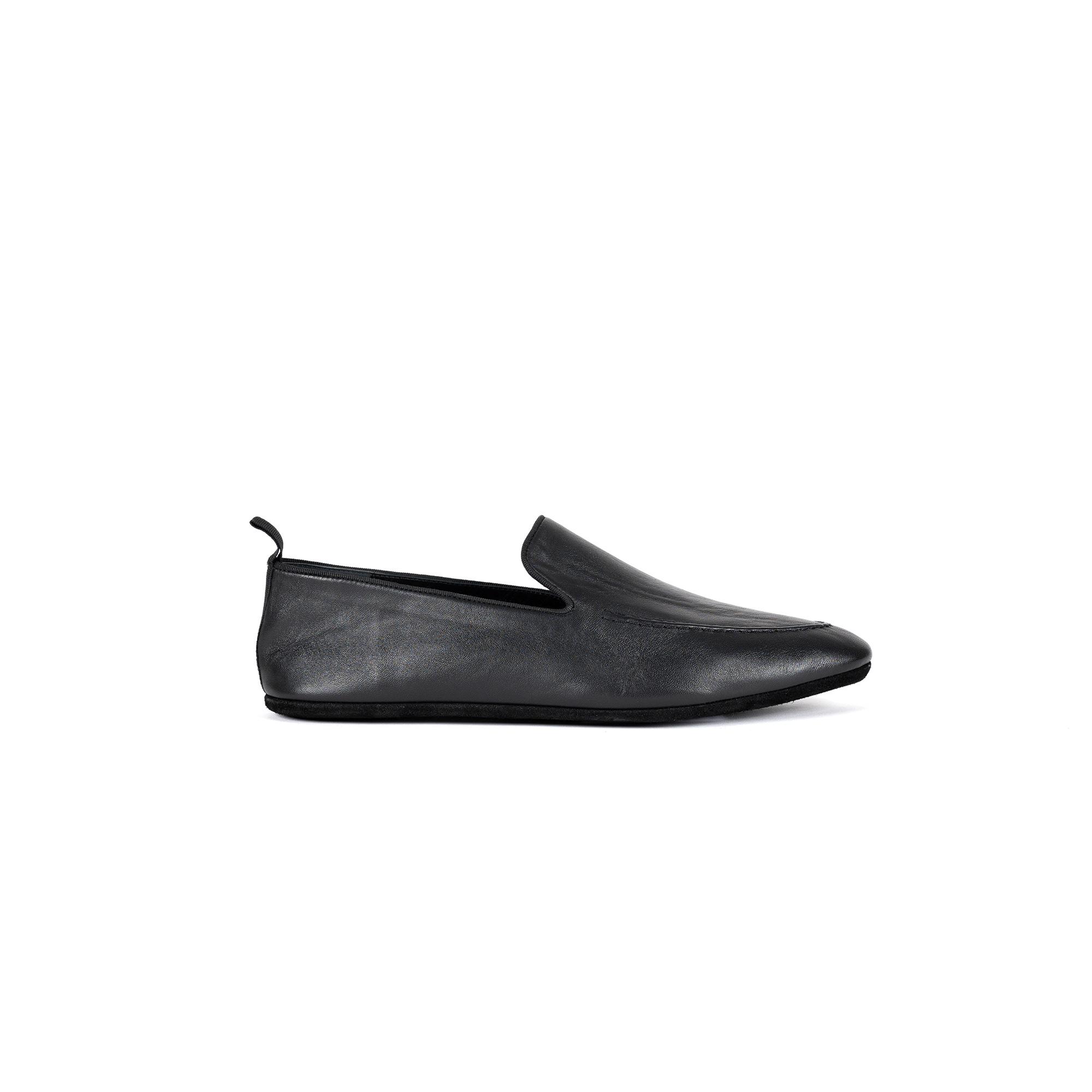Indoor classic slipper in napa leather - Farfalla italian slippers