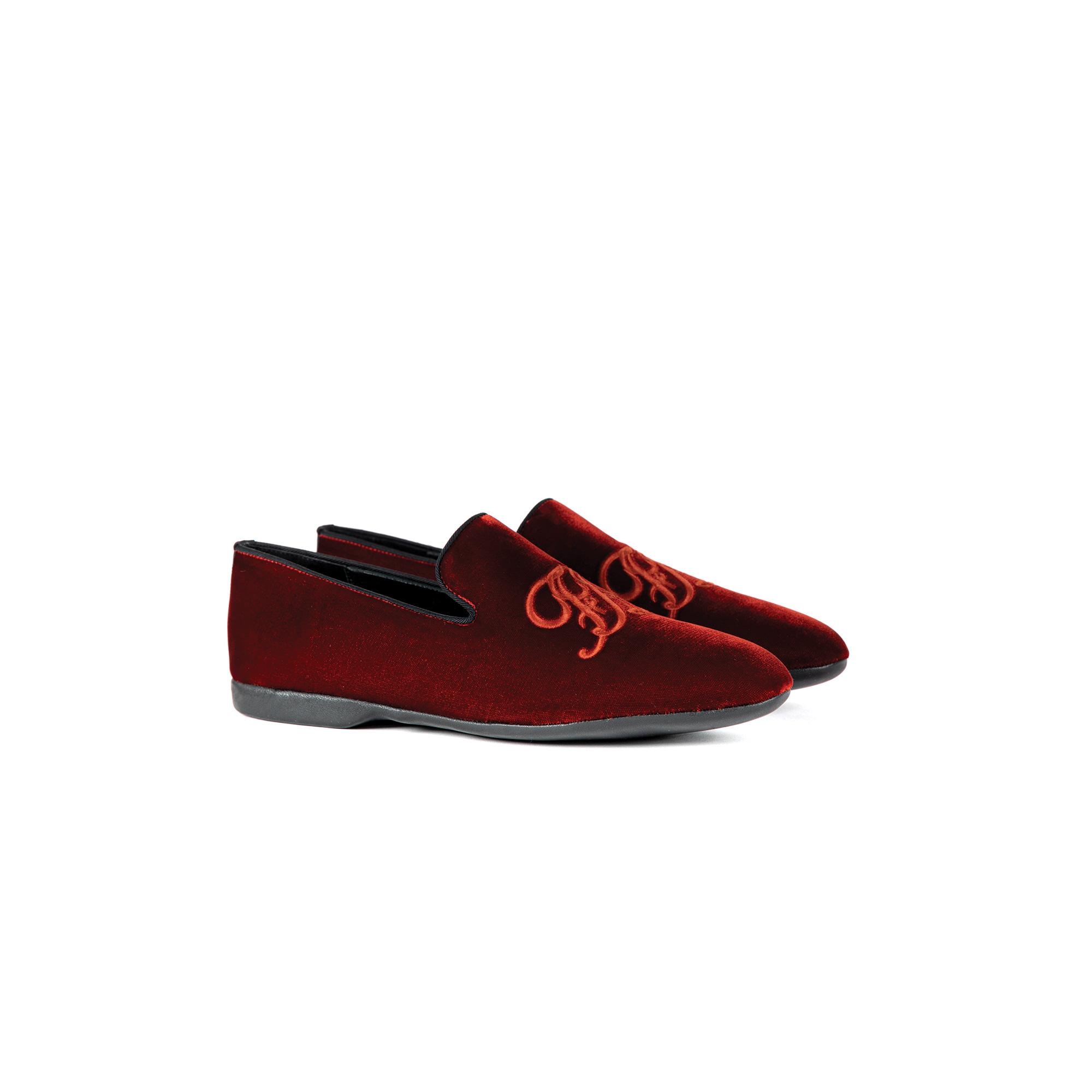 Indoor evening slipper open in velvet - Farfalla italian slippers