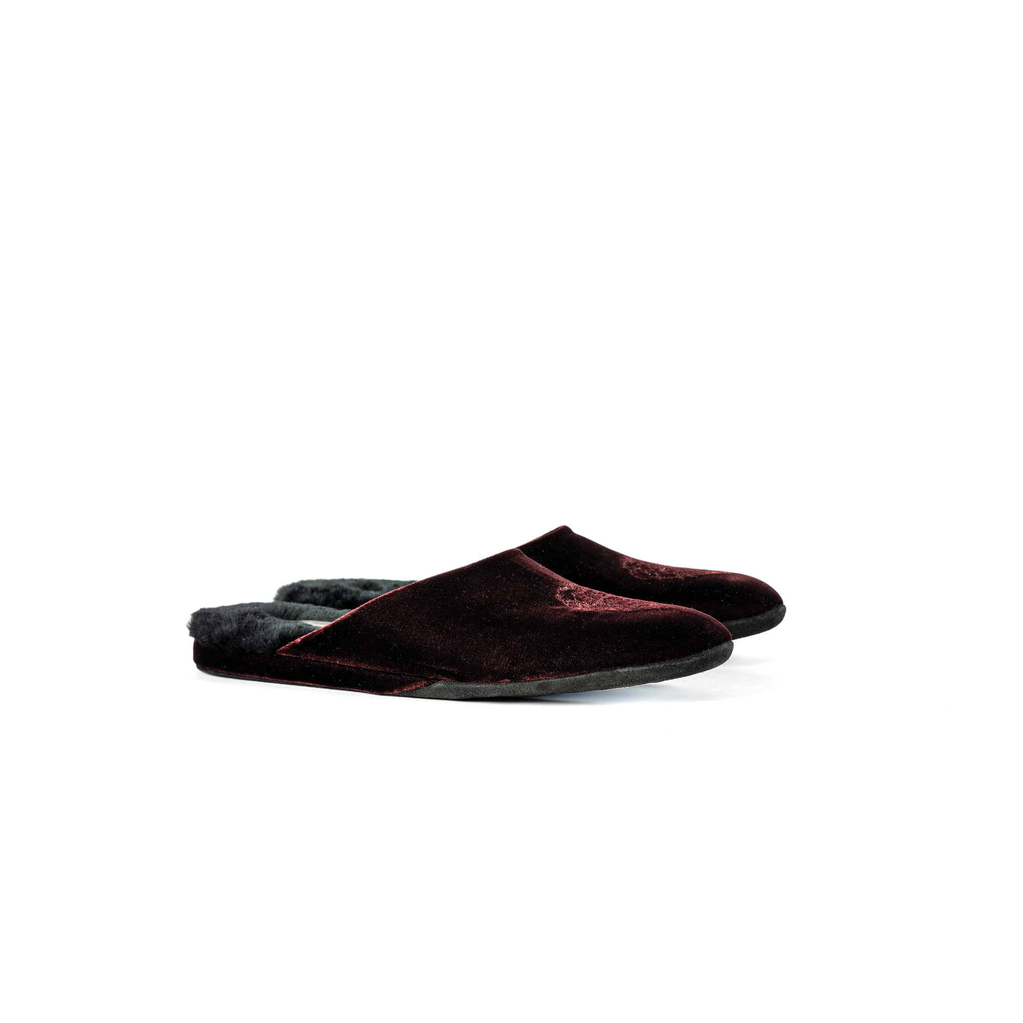 Indoor evening slipper in burnt velvet - Farfalla italian slippers