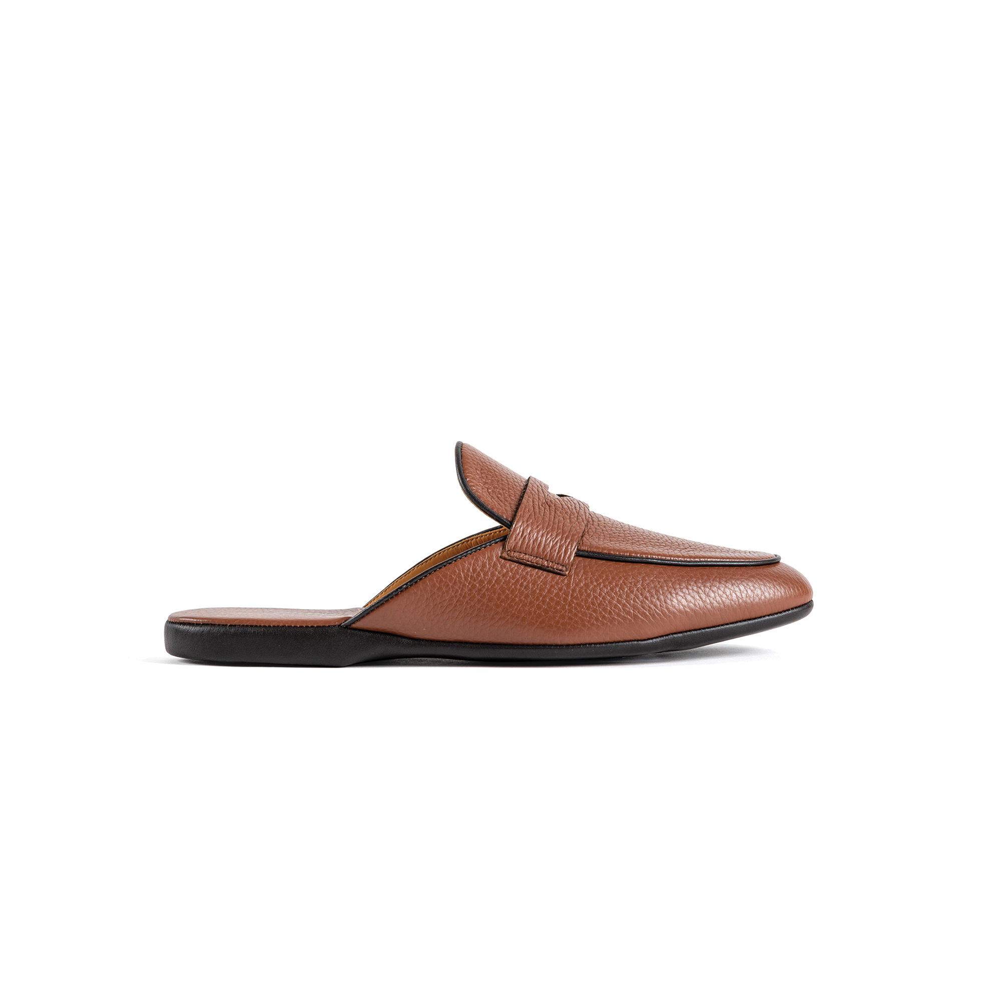 Pantofola interno classico in pelle cervo - Farfalla italian slippers