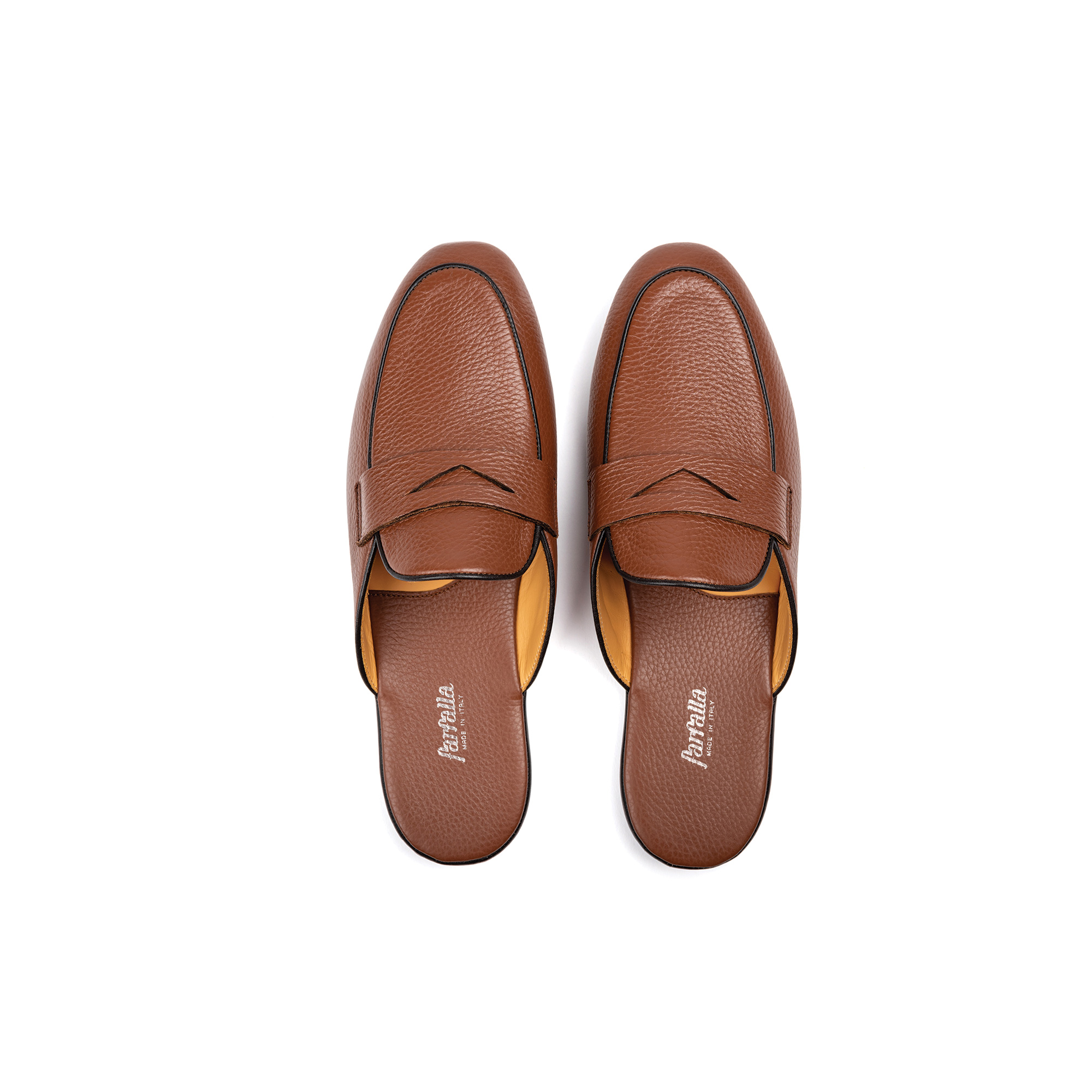 Indoor classic slipper in nuez deerskin - Farfalla italian slippers